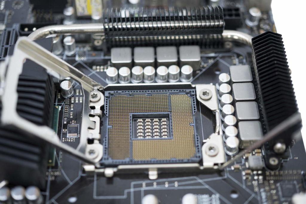 Chipset scheda madre aperto